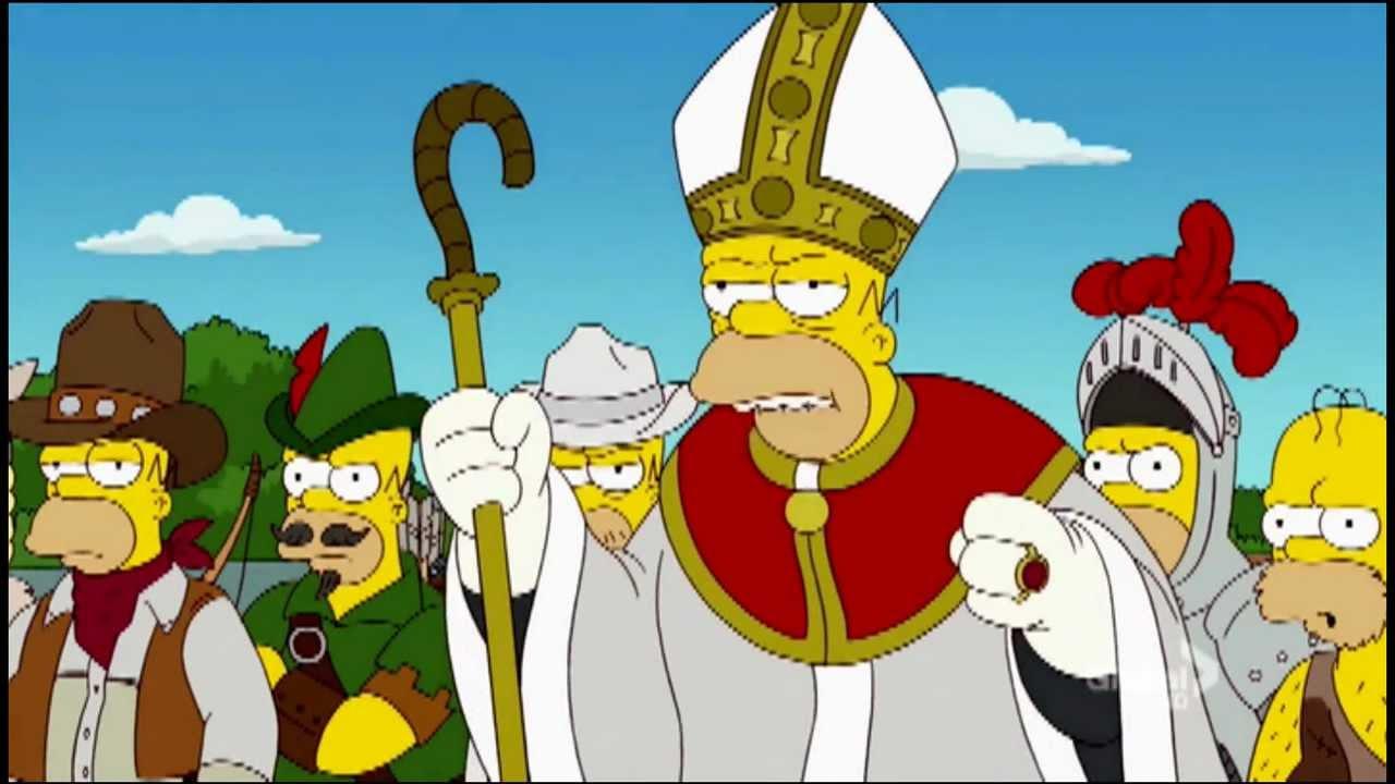 Image result for image pope homer