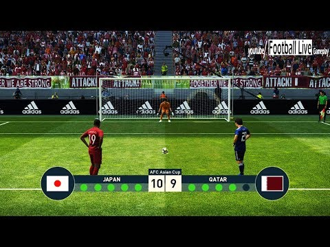 PES 2019 | Japan vs Qatar | Final AFC Asian Cup 2019 | Penalty Shootout | اليابان - قطر