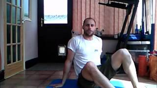 Foam Rolling with a Ball for the Glute