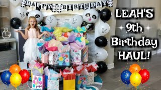 What I Got On My Birthday! Leah's 9th BIRTHDAY HAUL!!!