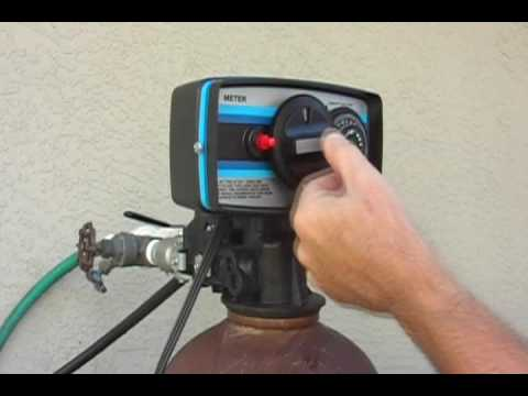 how to manually regenerate culligan water softener
