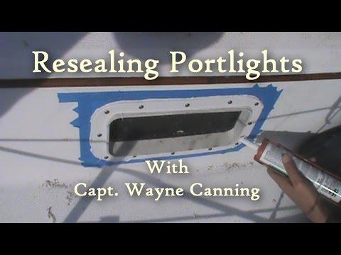 Resealing Plastic Portlights