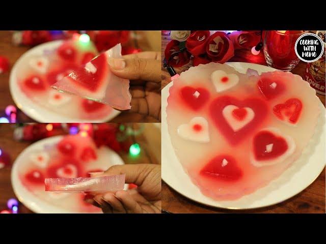 ভ্যালেন্টাইন্সডে স্পেশাল-ডাবের জেলো পুডিং | Jello Pudding |Daber Jello Pudding | How To Make Pudding