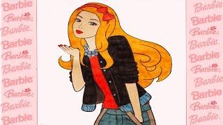 NEW Barbie coloring pages for kids / Барби раскраска-мультик для детей