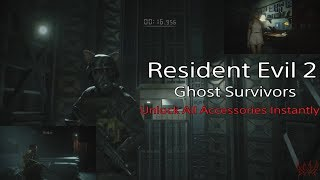 Resident Evil 2 Remake: Unlock All Accessories Instantly (Ghost Survivors DLC) 😻