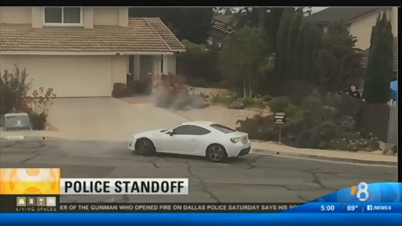 Scion FRS Police Standoff Erratic Driver Arrested After Chase   YouTube