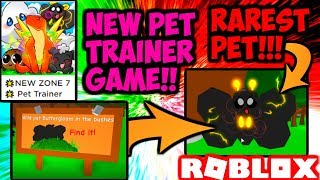 RAREST PET IN PET TRAINER?!? Also Some Game Advice! (Roblox)