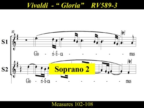 Vivaldi - Gloria - RV589 - 3 Laudamus te - Soprano2