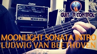 Moonlight Sonata Intro By Ludwig Van Beethoven For Acoustic Guitar - Guitar Lesson For Beginners
