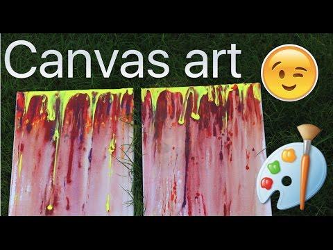 DIY canvas art  لوحة سهلة و بسيطة