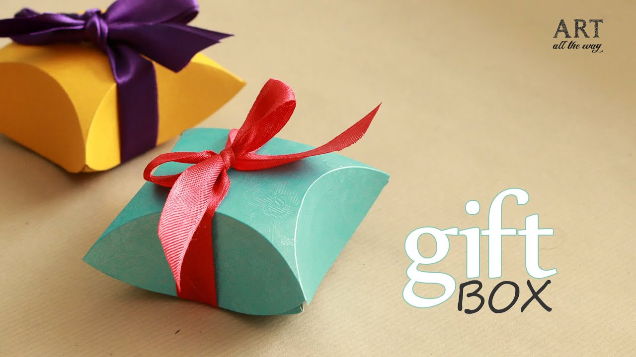 How To Make Gift Box Easy Diy Arts And Crafts Youtube
