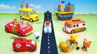 Три кота Мультфильмы для детей 2021 - three cats cartoons 2021 - fire engine toys for kids.