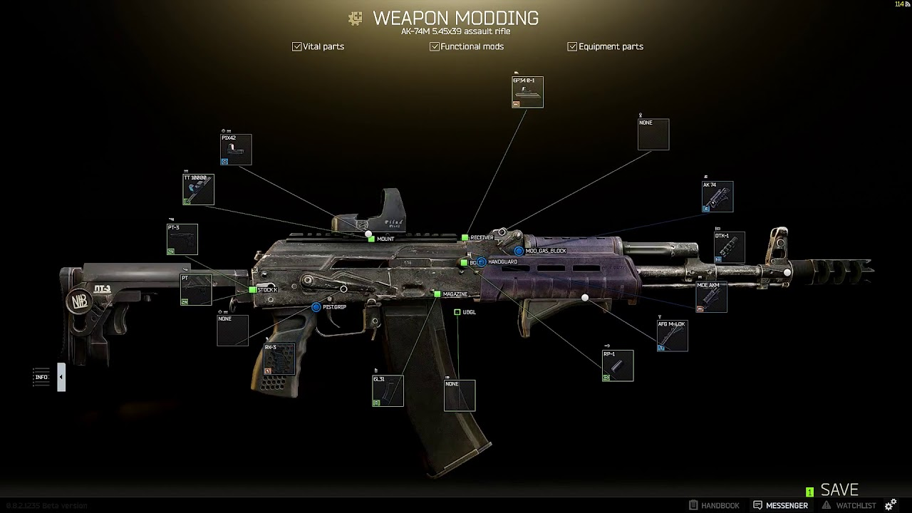 Ak74m: Escape From Tarkov AK74M EPIC Modding Guide !
