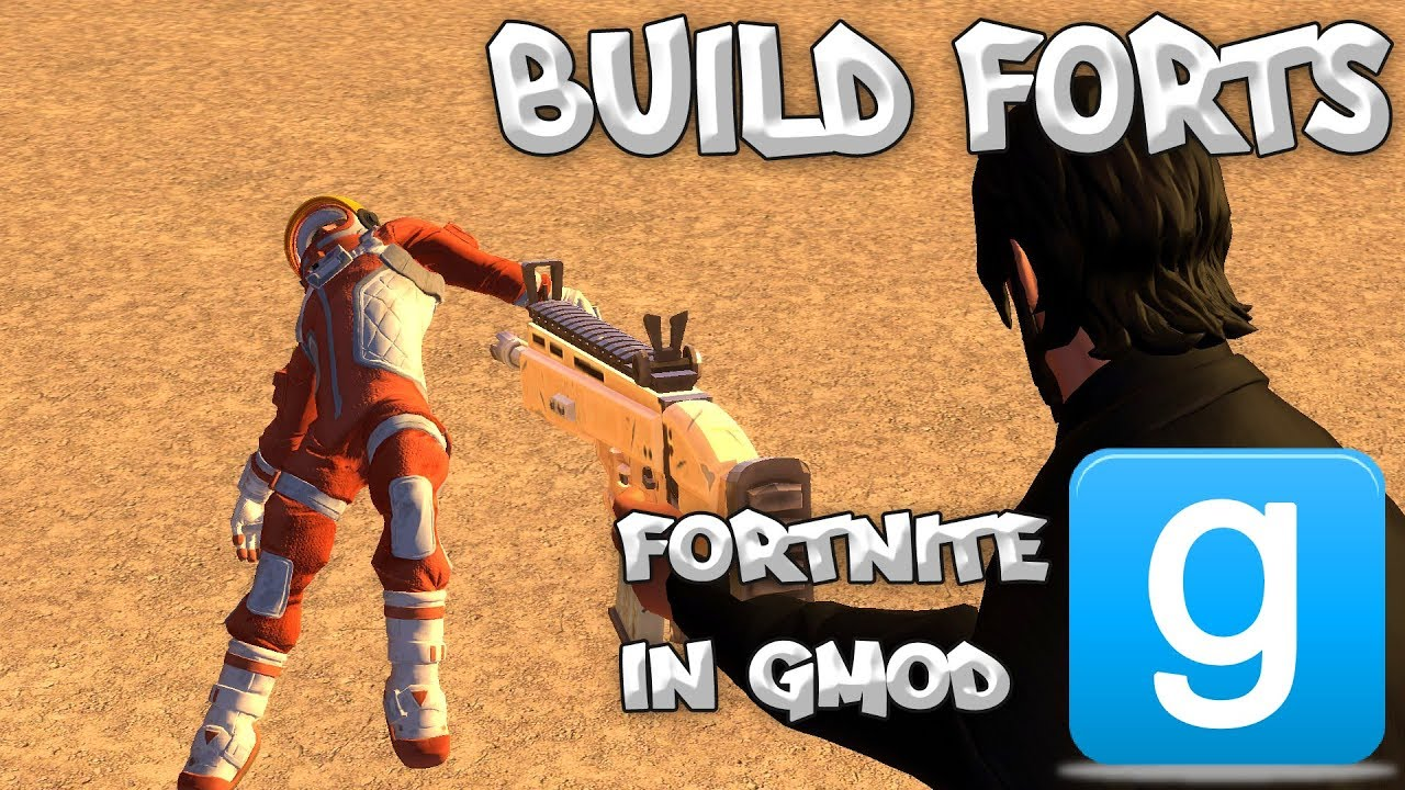 BUILD FORTS IN GMOD! - Fortnite Mod 3: Weapons / Characters / Building