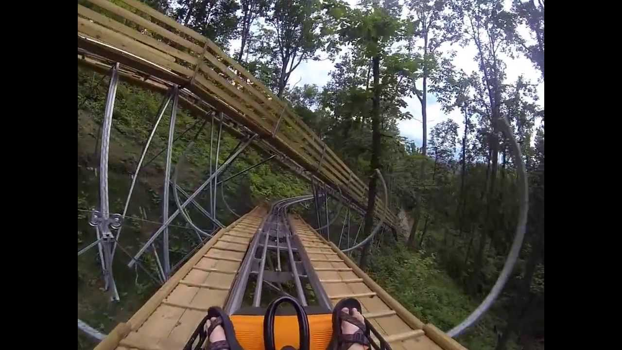 smoky mountain alpine coaster pigeon forge tn pov cam