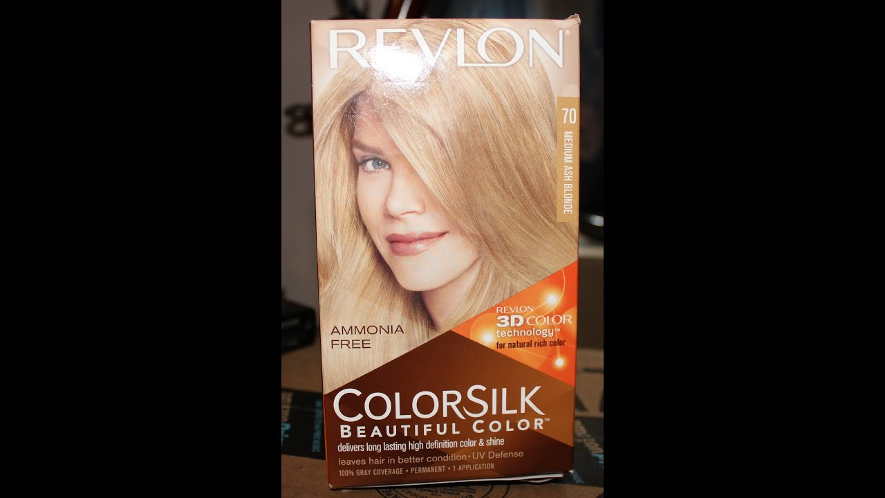 How I Dye My Hair Revlon Colorsilk Medium Ash Blonde And Kinda Fail