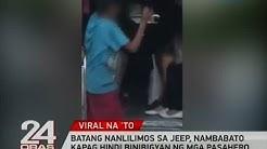 Batang nanlilimos sa jeep, nambabato   kapag hindi binibigyan ng mga pasahero