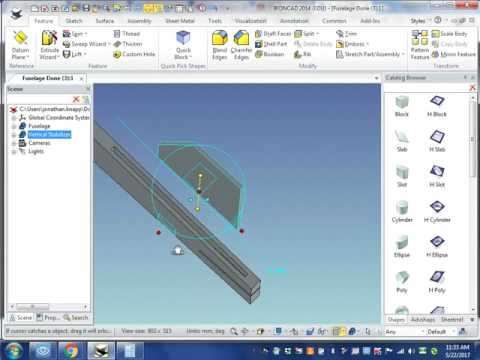 IronCAD Basic Tutorial - Vertical Stabilizer