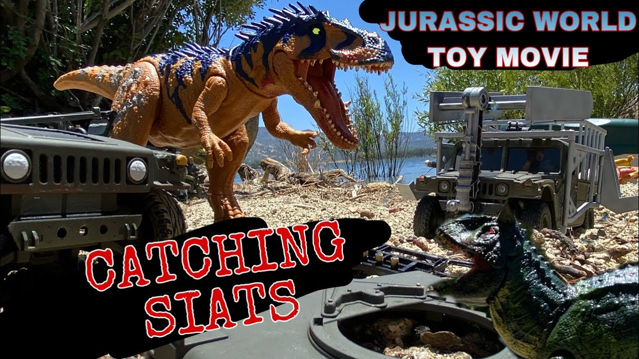 JURASSIC WORLD TOY MOVIE : CATCHING SIATS