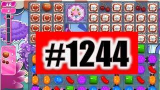 Candy Crush Saga Level 1244 NEW! Complete!