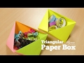 How to make Triangular Paper Box   Easy Storage Box   Origami Craft Project