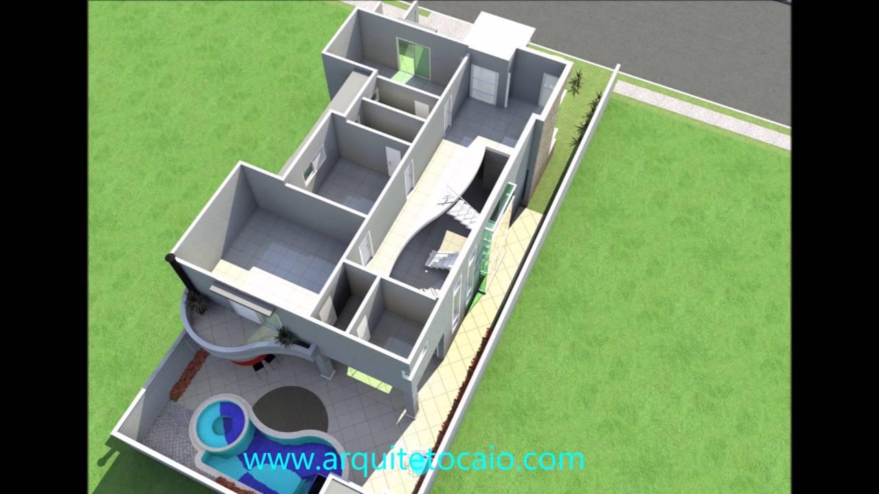 Projeto planta casa sobrado desenho fachada neocl ssica for Casa moderna 7x20