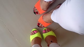 Shoeplay in Mules and creamed Soles - Anais y Yo Mostrandoles Nuestros Pies ! YelahiaG