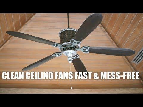 How to Clean Ceiling Fans in a Jiffy WITHOUT the Mess | How To Video