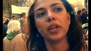 Протест срещу шистовия газ и трансатлантическото споразумение