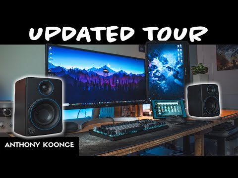 Ultimate Teen Gaming Setup!  Pt. 2 (Mackie CR3s + Updated Tour)