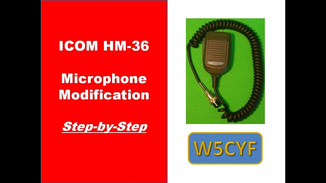 hight resolution of icom hm 36 microphone modification youtube icom 21 00h mic wiring diagram