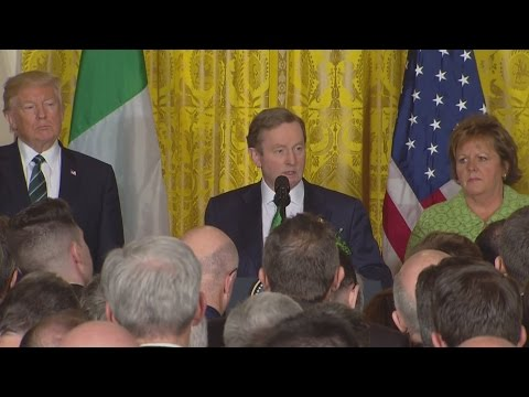 'St Patrick was an immigrant': Enda Kenny's message to Donald Trump
