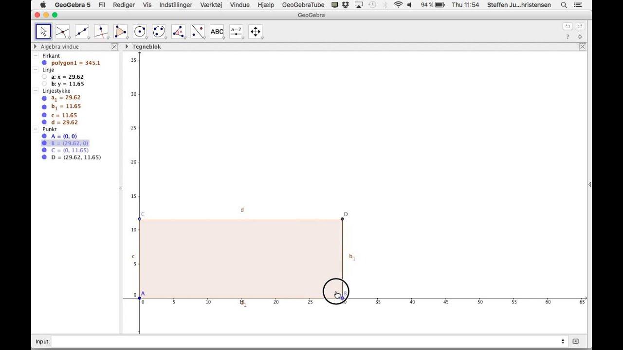 Optimering af rektangle med fast omkreds