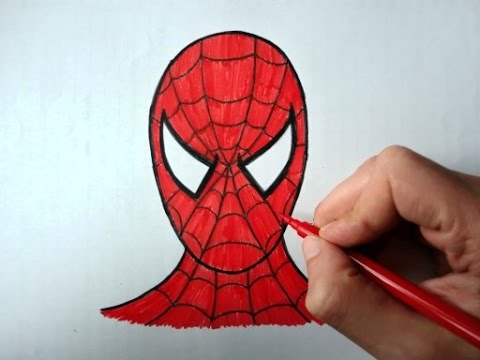 How To Draw Spiderman (Ehedov Elnur) Как рисовать Человека паука-Como Dibujar A Spiderman