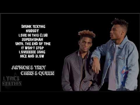 Lyrics: Ar'mon and Trey - Drunk Texting, Nobody, Love In This Club, Superhuman Mashup