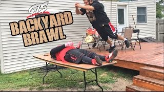 samoan gets electrocuted with jumper cables in insane backyard wrestling match