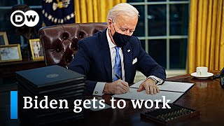 Joe Biden's first 24 hours in office: What did he change? | DW News