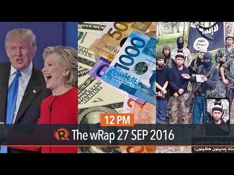 Clinton vs Trump, Duterte, vs Abu Sayyaf, Philippine peso drop | 12PM wRap