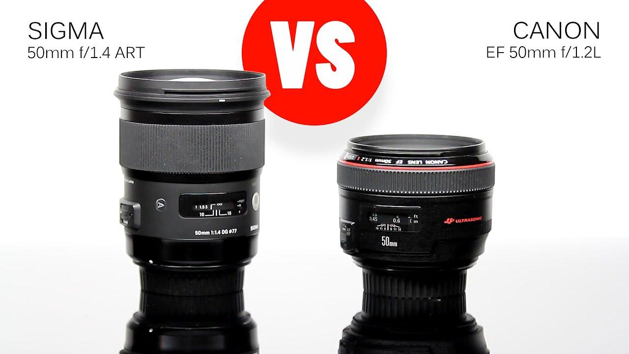 Lens Comparison: Sigma 50mm f/1.4 ART vs Canon 50mm f/1.2L (fixed ...