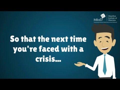 Be prepared! - Crisis management training