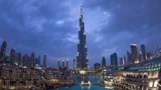 Time lapse of Burj Khalifa (Burj Dubai), Dubai in 4k/full HD