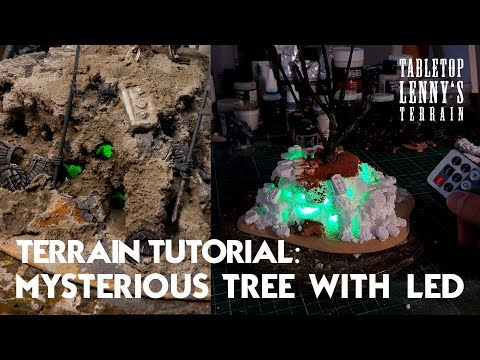 TERRAIN TUTORIAL: Mysterious Tree With LED Light-Lighting / Part I