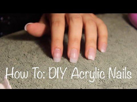 diy acrylic nails ameera