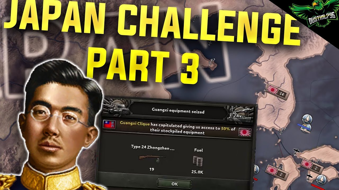 HOI4 Japan - World Conquest Historical Challenge - Part 3 (Hearts of Iron 4  Man the Guns)