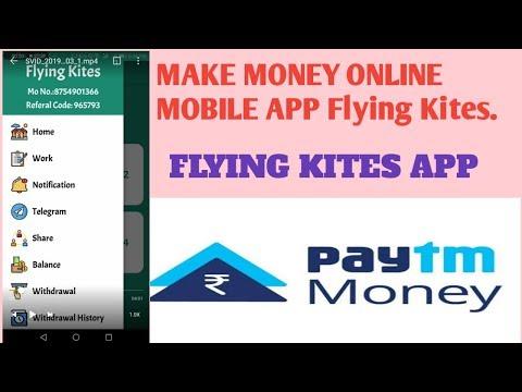 make money online mobile app flying kites