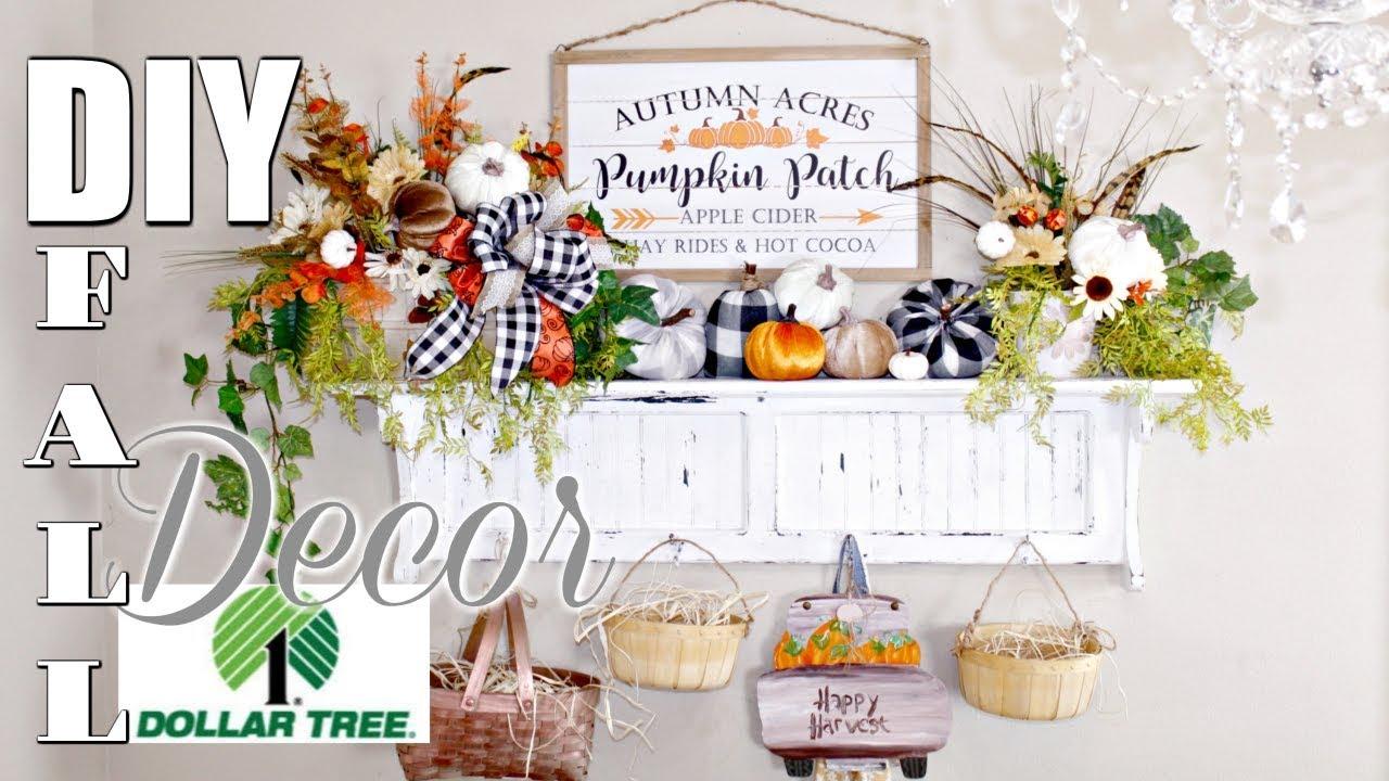 6 Diy Dollar Tree Decor Crafts Tutorial 2019 I Love Fall