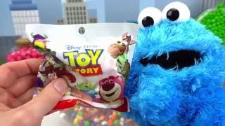 Blind Bags with Candy and Cookie Monster!