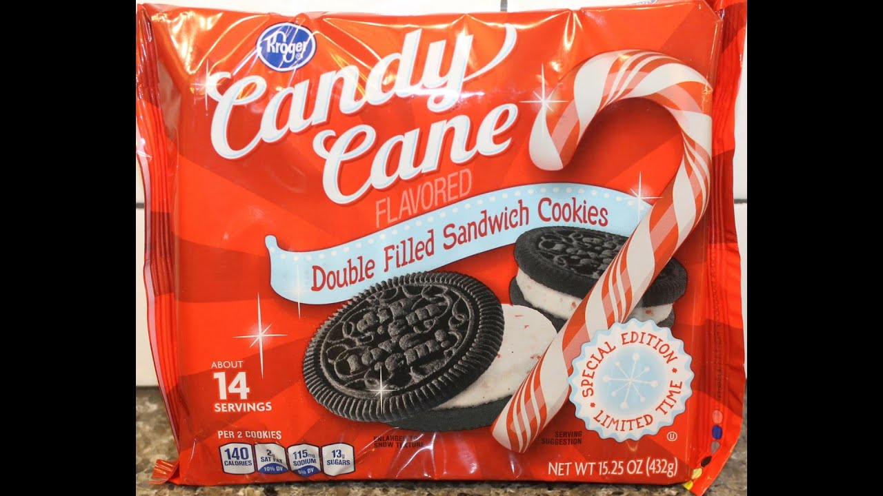 Kroger Candy Cane Double Filled Sandwich Cookies Like Oreo Review
