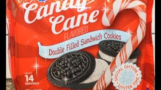 Kroger Candy Cane Double Filled Sandwich Cookies (like Oreo) Review