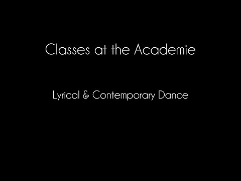 Lyrical and Contemporary Dance at the Academie de Ballet